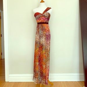 NWT BCBG MAXAZRIA Multicolored Inga Dress Sz 2